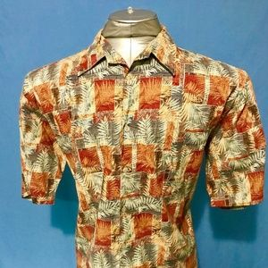 Tori Richard Honolulu Hawaiian Shirt 100% Cotton L